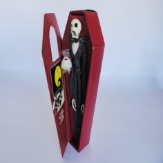 Jack Skellington Figure in Burgundy Coffin