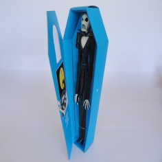 Jack Skellington Figure in Turquoise Coffin